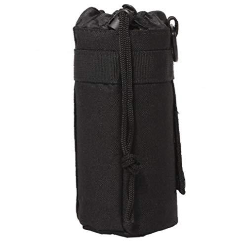 Ajustable Táctico Botella De Agua De La Bolsa del Bolso De Agua Plegable Titular De La Botella Adjunto Portador para Mochila, Bolsa De Cintura, Cinturón-Negro