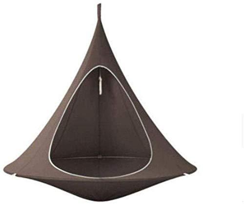 Sedia a Dondolo appesa a Forma di Albero di Teepee per Bambini e Adulti Tenda per Amaca all'aperto per Interni Hamaca Patio Mobili Marrone Scuro 150 * 180 cm