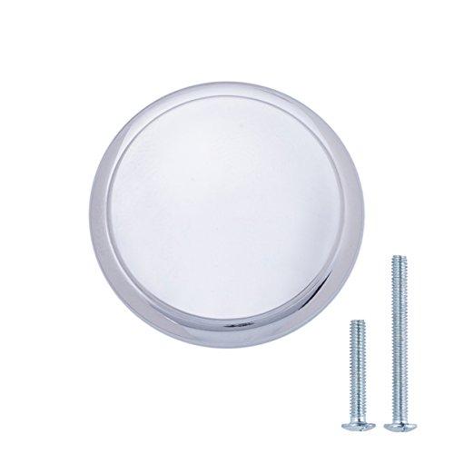 AmazonBasics - Pomo de armario, con diseño de aro superior, moderno, 2,95 cm de diámetro, cromo pulido - paquete de 25