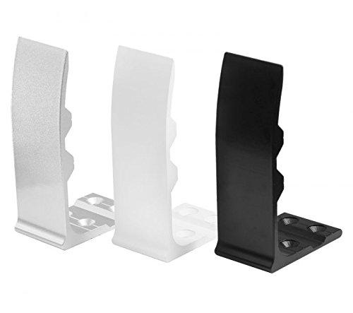 Aluminium Sichtschutz Halter für Bürotisch Schreibtisch Tisch Sichtschutzhalter (Silber)
