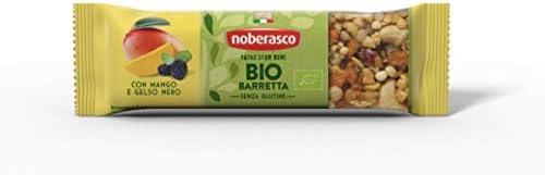 Noberasco Bio Barretta con Mango e Gelso Nero 30G -Barretta con frutta essiccata, frutta secca e semi,...