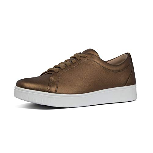 FitFlop Rally Tennis Sneaker-Leather-Updated, Zapatillas Mujer, Marrón (Bronze 012), 36 EU