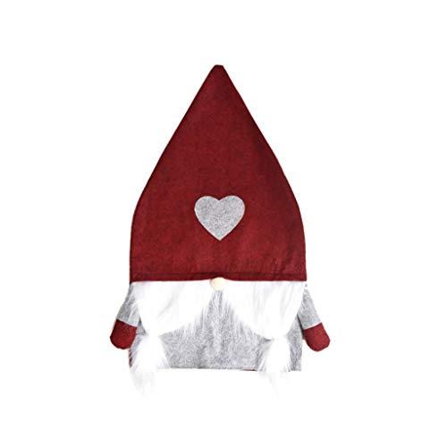 Diaod 1 Pieza de Gorro de Papá Noel, Funda para Silla, Mesa de Cena de Año Nuevo, Sombrero de Navidad, Fundas traseras para sillas, Decoraciones navideñas para Fundas de sillas para el hogar