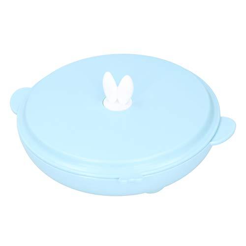 Boîte à Bento pour enfants en acier inoxydable 304, 9,3 x 9,3 x 2,6 pouces Isolation pour enfants(bleu)