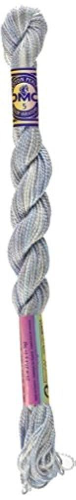 DMC 415 5-4010 Color Variations Pearl Cotton Thread, Size 5, 27-Yard, Winter Sky