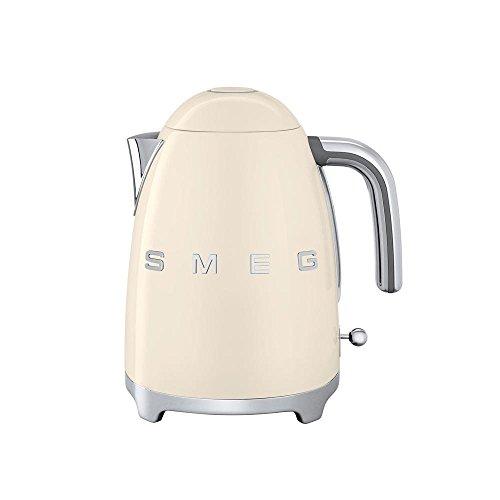 Smeg SMEG KLF01 Wasserkocher 1,7L, creme lackiert integriertes Heizelement Soft-Opening