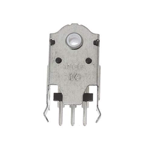 Codificador de mouse TTC 14 mm, decodificador de mouse, núcleo branco, 1 milhão de vida útil, altamente preciso para Logitech Razer Mouse Wheel Silver Wheel Codificador de roda