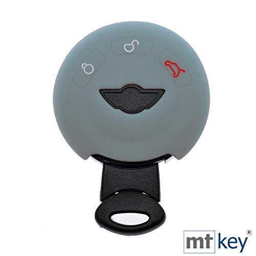 KEYLESS Funda de Silicona para Llave de Coche Gris Compatible con Mini R55 R56 R57 R59 R60 R61 One C