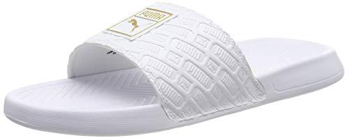 Puma Unisex-Erwachsene Popcat Reinvent Dusch-& Badeschuhe, Weiß White White 02, 40.5 EU