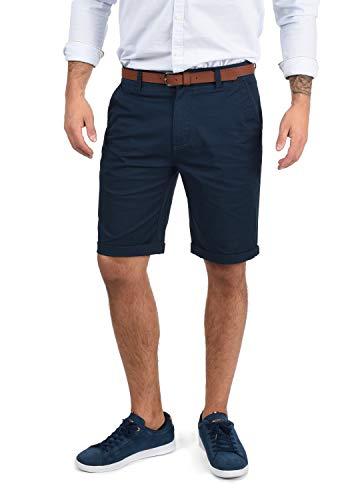 !Solid Montijo Chino Shorts Bermuda Kurze Hose Mit Gürtel Aus Stretch-Material Regular Fit, Größe:L, Farbe:Insignia Blue (1991)