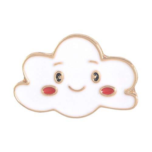 Broche de esmalte con diseño creativo para chaquetas, mochilas, ropa, caricaturas, lunas, nubes y arcoíris esmaltadas, para bolsos, collar, solapa, joyería – Nube* Cloud*