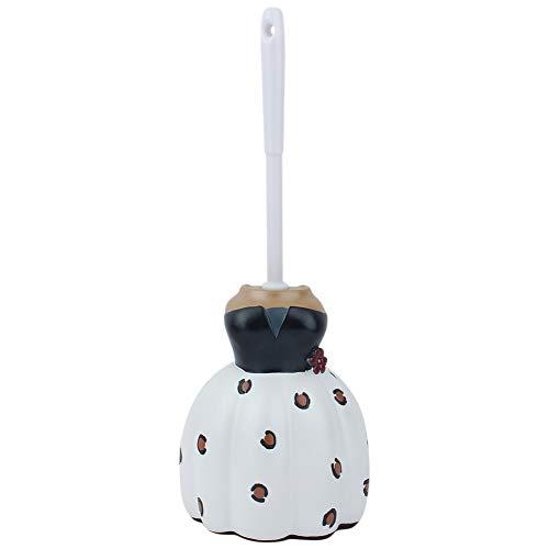 PBOHUZ Cepillo de Inodoro con Forma de Dibujos Animados Lindo Mango Largo Cepillo de baño para Inodoro Herramienta de Limpieza con Soporte para el hogar