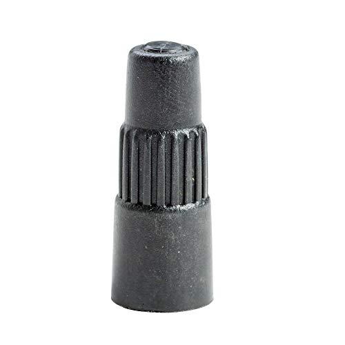 10x Ventilverlängerung Autoventil 40mm, Ventilverlängerung Kfz + Ventilkappe, Ventilverlängerung schwarz Autoventil