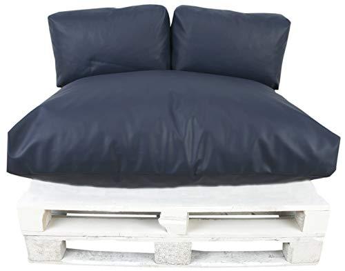 Cojin palets 80x120 cm Desenfundable Máximo Confort Polipiel Marino - MODIN -