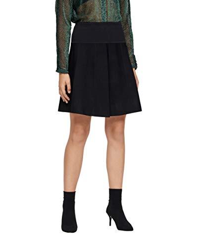 nümph Damen Eunice Skirt Rock, Schwarz (Caviar 0000), 40 (Herstellergröße: L)