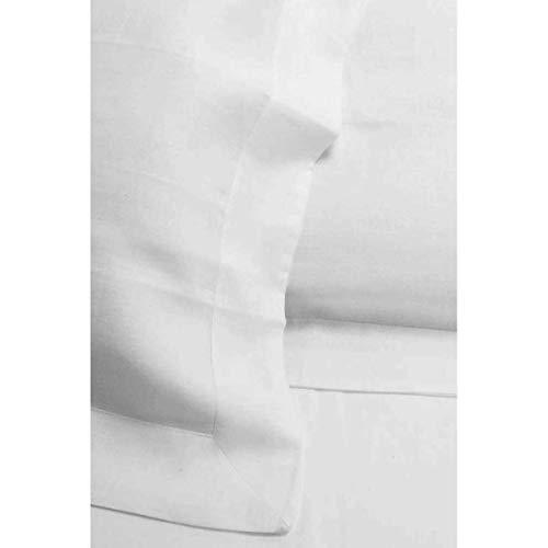 Tecno Hospital PARURE Matrimoniale Lenzuola 100% Puro Lino Bianco QUALITA' Pregiata Made in Italy(POSSIBILITA' di Personalizzazione con Ricami) (Bianco)