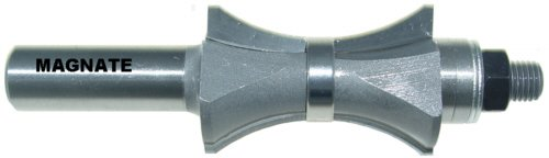 "Magnate 5867 Finger Nail with Center Bearing Router Bit - 1-1/2"" Profile Height; 1/4"" Cutting Depth"