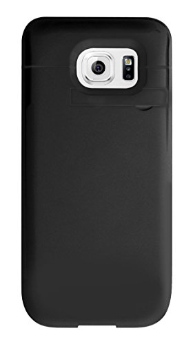 Cellet 3200mAh Rechargeable External Battery Charger Case for Samsung Galaxy S6 edge - Black - Retail Packaging