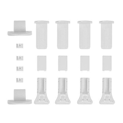 Lichtblick PKV.01.SB Klemmträger und Zubehör Montage-Set für Klemmfix Plissee PKV