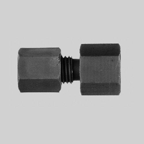 THOMAFLUID Gerader-Rohrverbinder mit Innengewinde aus PVDF, Rohr Außen-Ø: 10 mm, Innengewinde: M10 x 1,5, 5 Stück