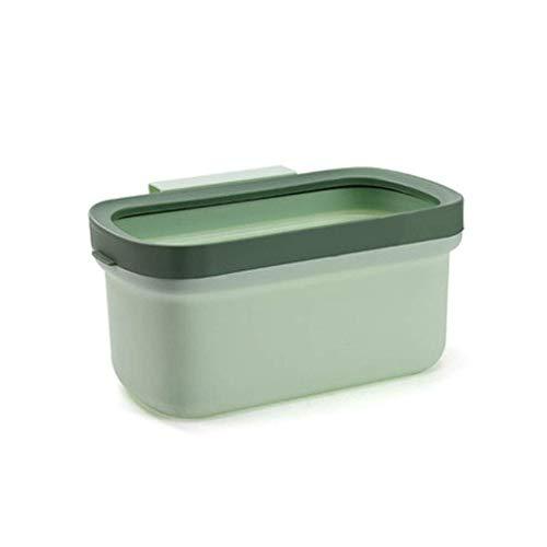 1yess Mülleimer Modern Mülleimer, Hängende Abfallbehälter unter Küchenspüle, mit Top-Ring, um Müllsack zu reparieren Kunststoffabfälle über Schranktür Abfallbehälter (Farbe: grau, Größe: s)