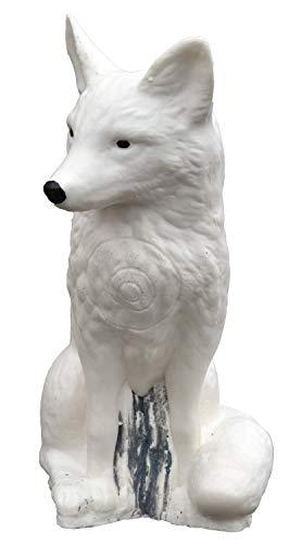 by Beier Germany Universal IBB 3D - Volpe Polare Seduto a Forma di Animale, Multicolore, Normale