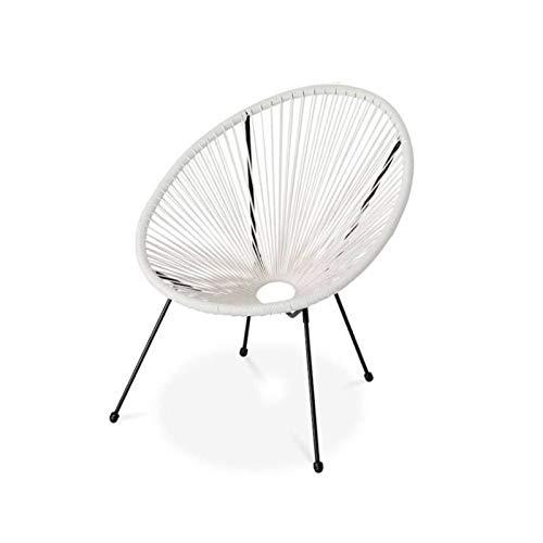 Zons - Set di 2 sedie da giardino Mexico effetto rattan, 69 x 70 x 82 cm