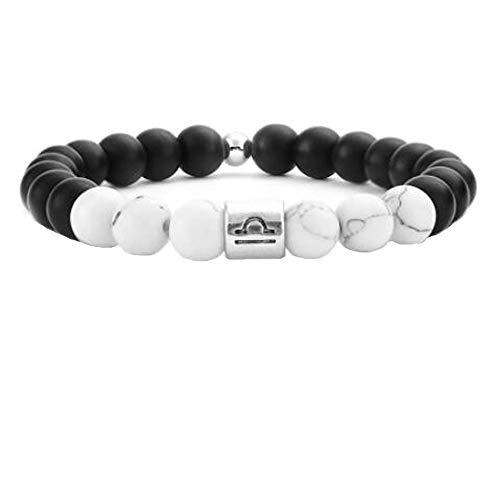 MeiPing 8Mm Natursteine Perlen Gemini Armbänder Männer Stressabbau Yoga Perlen Armbänder Für Frauen Waage