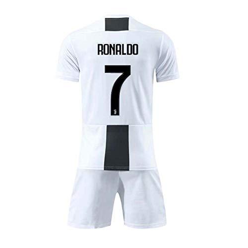 COOLBOY Herren Breathe Trikot, Ronaldo 7#, Heim & Auswärts Trikot und Shorts Kinder und Jugend Größe,28