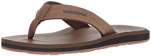 Quiksilver Carver Nubuck, Sandalia Hombre, Tanne Solid, 45 EU