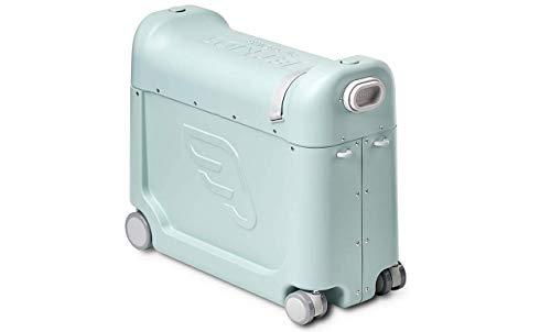 JetKids by STOKKE BedBox - Kinderkoffer mit Bettfunktion - Handgepäck zum Sitzen und Rollen - Farbe: Green Aurora, one Size