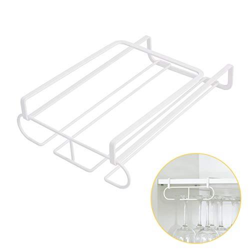 KES KGR500-WH wijnglazenhouder, rek, hangers, onderkast, rek, opslag zonder boren, voor keukenset