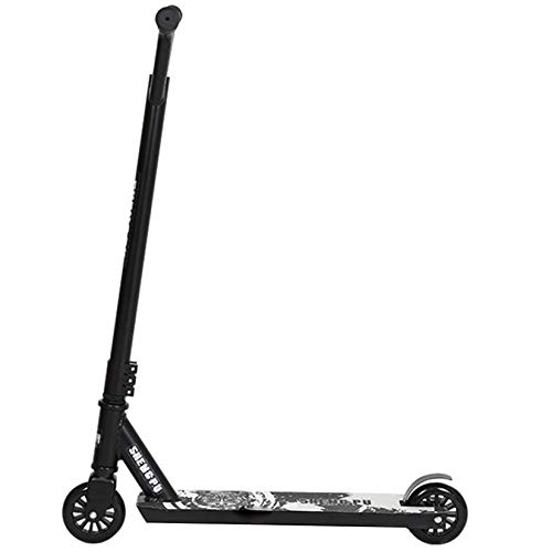 Pro Stunt Scooter, 360 Degree Street Scooter with Non-slip Deck, PP Core, 100mm PU Wheels, Fixed Bar Sports Kick Scooter for Kids, Adults