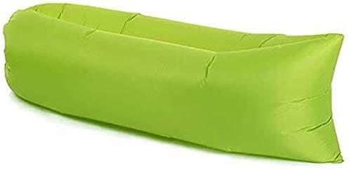 Chaise de camping Beach Pique-nique Canapé gonflable paresseux Ultralight Down Sac de couchage Air Lit gonflable Canapé chauger Meubles de plein air Tabouret pliable (Color : Green)