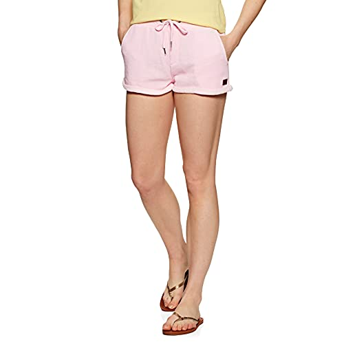 Roxy Perfect Wave-Sweat Shorts for Women Pantaloncini di Velluto a Coste, Pink Mist, L Donna