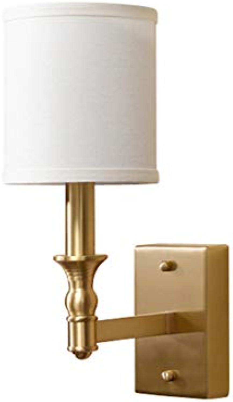 E14 Wandleuchte Nachttisch 5 Watt Einfache Kupfer Tuch Wandleuchten Kabinett Spiegel Beleuchtung