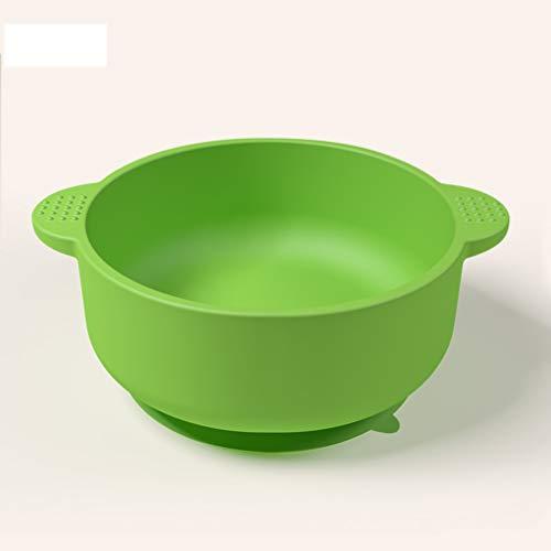 Plato de silicona para bebé, plato de agarre con ventosa, cuenco de suplemento alimenticio para niños, portátil, antideslizante, con ventosa para niños, bebés, apto para microondas y lavavajillas