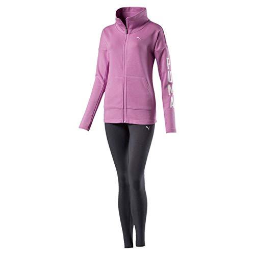 PUMA 852456 41 - Chándal para Mujer, diseño de Leggin, Color Rosa y Gris