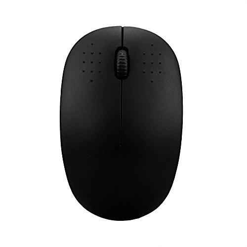 SamMoSon Mouse 2.4GHz Senza Fili  Gaming Topo USB Ricevitore Professionista Gamer  per PC Portatile  Desktop (Nero)