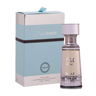 Armaf Blue Homme Concentrated French Perfume Oil Alcohol Free For Men 20 ml /.67 oz (Blue Homme)