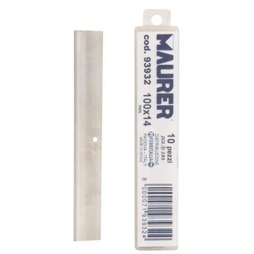 Maurer 2300395 – Lot de 10 Feuilles de rechange pour grattoir à manche métallique de 10 cm