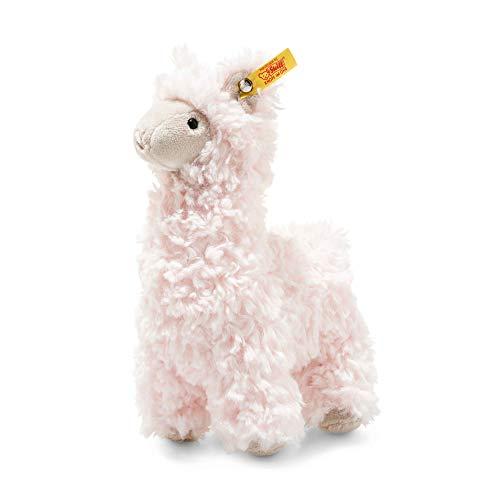 """Steiff 69437 Original Plüschtier Lama Soft Cuddly Friends Luciana, Kuscheltier ca. 14 cm, Markenplüsch Knopf im Ohr"""", Schmusefreund für Babys von Geburt an, rosa"""