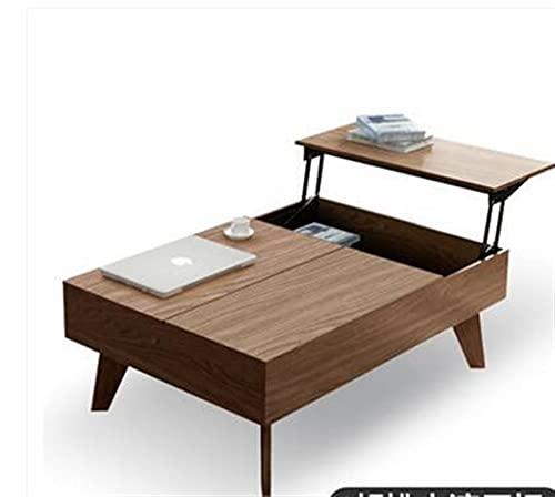 SHUJINGNCE Table Pliante Multifonction.Table et Ascenseur de la Laque Qui Cuite de thé en Verre trempé (Color : 120CM)