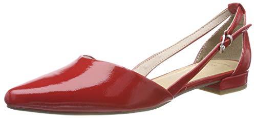 MARCO TOZZI Damen 2-2-22114-32 Geschlossene Ballerinas, Rot (Red Patent 524), 39 EU