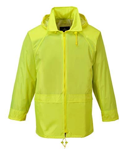 Regenjacke Regenschutz Jacke Rain-Jacket wasserdicht Nässeschutz Portwest (gelb, 4XL)