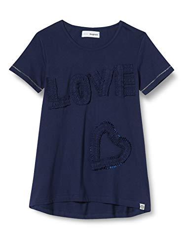 Desigual Mädchen TS_Crawley T-Shirt, Blau (Navy 5000), 152 (Herstellergröße: 11/12)