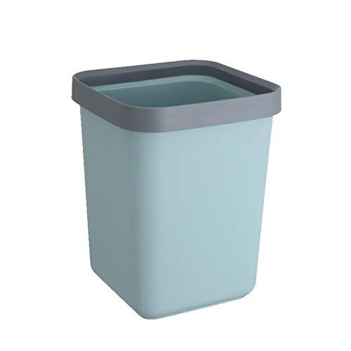 BIAOYU La Basura de plástico Puede papeleras, contenedores de Basura pequeño Cuadrado de Papel Papeleras Papeleras for baños, Polvo de Salones, cocinas, oficinas Usar (tamaño : 12L)