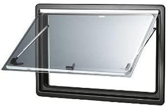 Dometic 204/066 S4 - Ventana de repuesto para autocaravanas (750 x 400 mm), sin cuadro, Gris