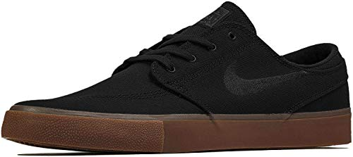 Nike Men's SB Zoom Stefan Janoski Skate Shoes Black/Black-Gum Light Brown 8 M US