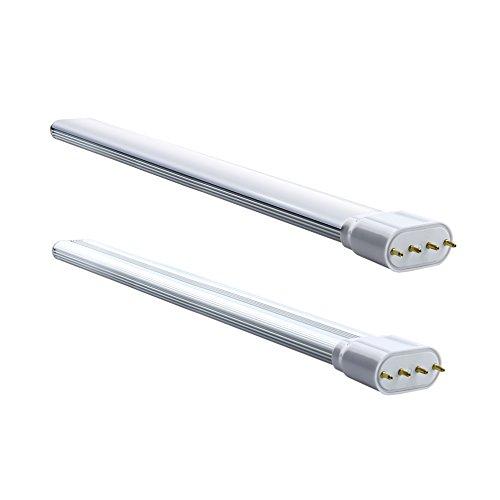 Luxvista 18W 2G11 4-Pin LED TUBOS DOBLES 2G11 PL-L Bombilla con 1700 lumenes, 160 Grados (2-Unidades, Luz Fría 6000K)